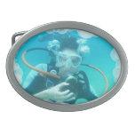 El equipo de submarinismo burbujea hebilla hebillas cinturon
