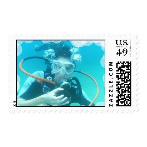 El equipo de submarinismo burbujea sello