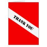 El equipo de submarinismo le agradece tarjeta de n