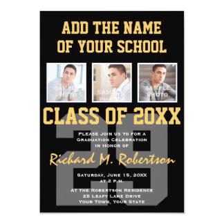 """El equipo del atleta de la High School secundaria Invitación 5"""" X 7"""""""