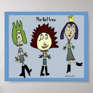 El equipo del chica póster