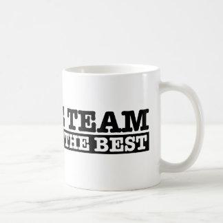 El equipo del discusión taza de café