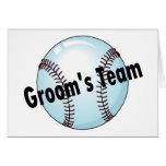 El equipo del novio (béisbol) felicitaciones