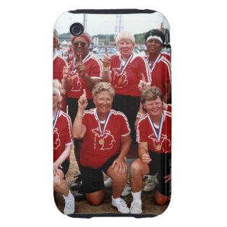 El equipo del softball es competidores en el iPhone 3 tough carcasas