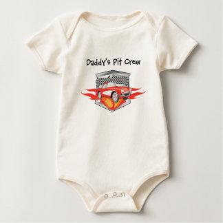 El equipo en boxes del papá trajes de bebé
