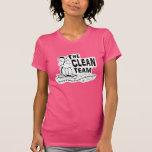 El equipo limpio camiseta