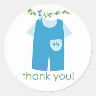El equipo lindo del bebé azul le agradece pegatina
