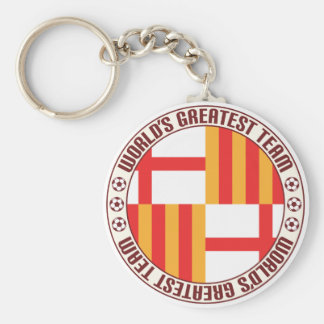 El equipo más grande de Barcelona Llavero Redondo Tipo Pin