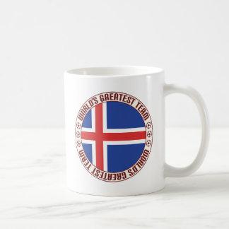El equipo más grande de Islandia Taza Básica Blanca