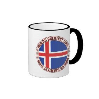 El equipo más grande de Islandia Taza A Dos Colores