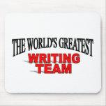 El equipo más grande de la escritura del mundo tapete de ratón