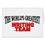 El equipo más grande de la escritura del mundo tarjeton