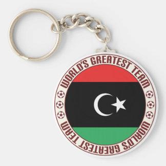 El equipo más grande de Libia Llavero Redondo Tipo Pin
