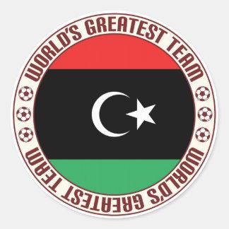 El equipo más grande de Libia Pegatina Redonda