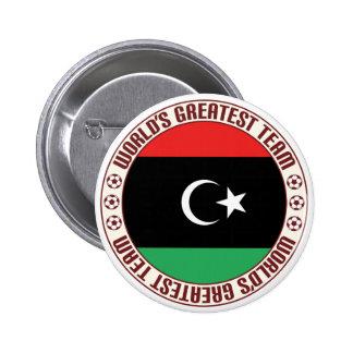 El equipo más grande de Libia Pin Redondo De 2 Pulgadas
