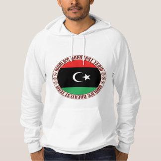 El equipo más grande de Libia Sudaderas Con Capucha