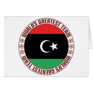 El equipo más grande de Libia Tarjeta De Felicitación