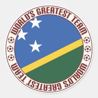 El equipo más grande de Solomon Island Pegatina Redonda