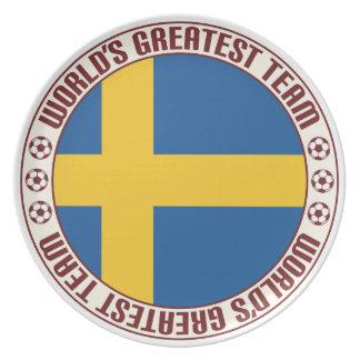 El equipo más grande de Suecia Platos De Comidas
