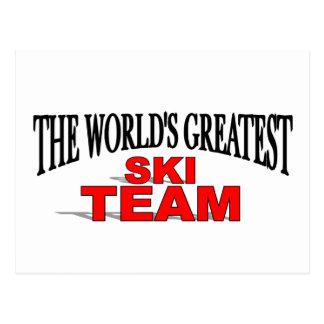 El equipo más grande del esquí del mundo postal
