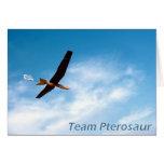 El equipo Pterosaur le agradece cardar Tarjetas