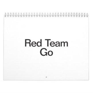 el equipo rojo va calendarios de pared