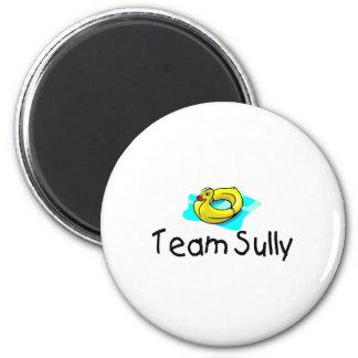 El equipo Sully el pato Imán Redondo 5 Cm
