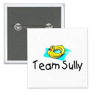 El equipo Sully el pato Pin Cuadrado
