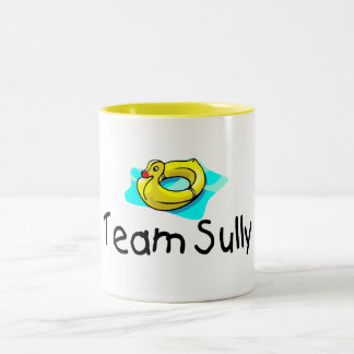 El equipo Sully el pato Taza De Dos Tonos