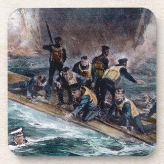 El equipo titánico del RMS escapa fregaderos del m Posavasos De Bebida