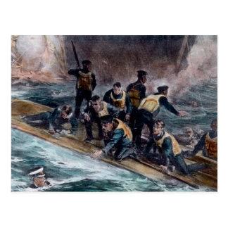 El equipo titánico del RMS escapa fregaderos del Tarjeta Postal