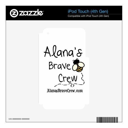 El equipo valiente de Alana iPod Touch 4G Skins