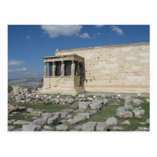 El Erecthion es parte de acrópolis del griego Tarjeta Postal