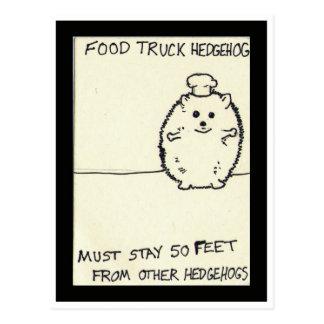 El erizo del camión de la comida es solo postales
