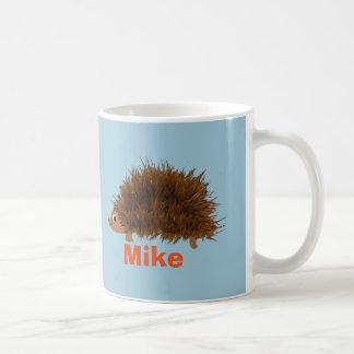 El erizo lindo añade nombre taza de café