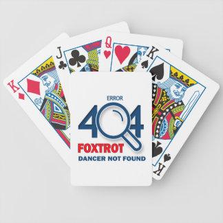 El error 404 Foxtrot bailarín no encontrado Baraja Cartas De Poker