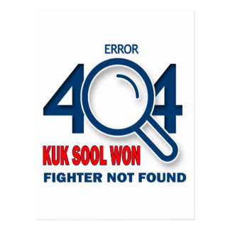 El error 404 Kuk Sool ganó el combatiente no Postal