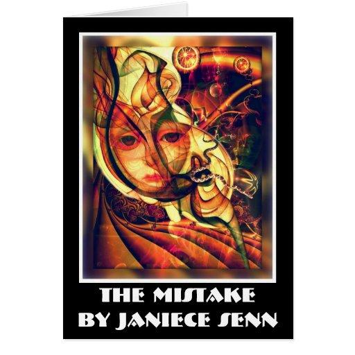 El error de Janiece Senn Tarjeta De Felicitación