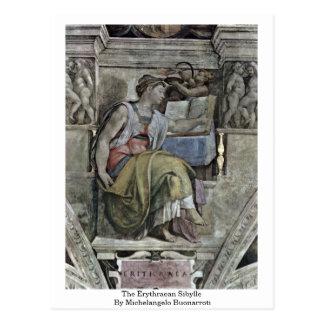 El Erythraean Sibylle de Miguel Ángel Buonarroti Postales