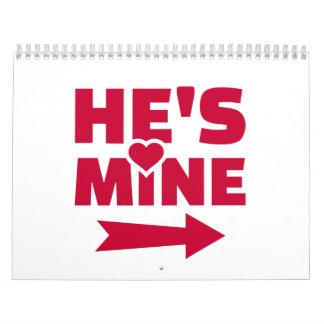 Él es el mío calendarios