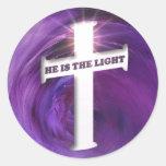 Él es la luz pegatina