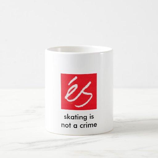 el es_logo, patinando no es un crimen taza de café