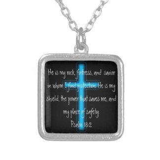 Él es mi collar del 18:2 del salmo de la roca y de