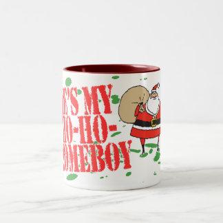 Él es mi Ho-Ho-Homeboy Tazas De Café