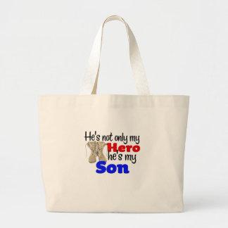 Él es no sólo un héroe que él es mi hijo bolsa tela grande