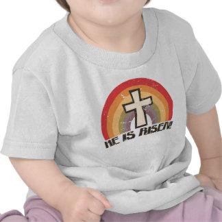Él es Pascua religiosa subida Camisetas