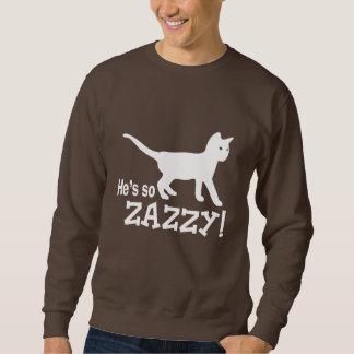 Él es tan Zazzy - amante del gato Sudadera