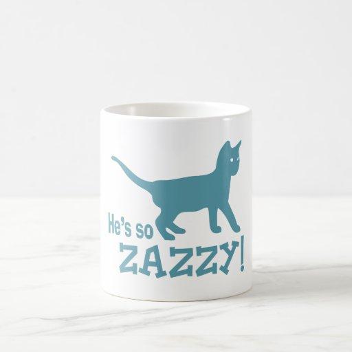Él es tan Zazzy - amante del gato Taza De Café
