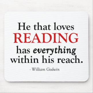 Él esa lectura de los amores tiene todo alfombrilla de raton