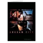 El escape de la ciudad de Arkham es imposible Felicitación